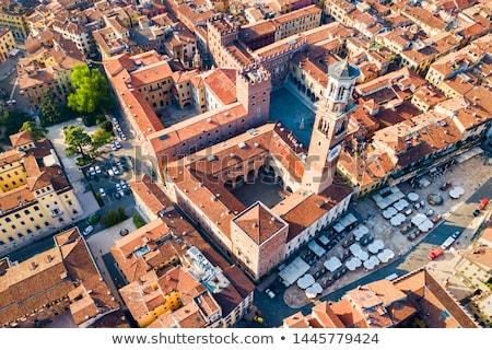 Torre dei Lamberti in Piazza delle Erbe, Verona Stock photo © meinzahn