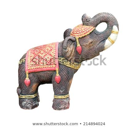 elefántok · templom · India · épület · művészet · kő - stock fotó © flotsom