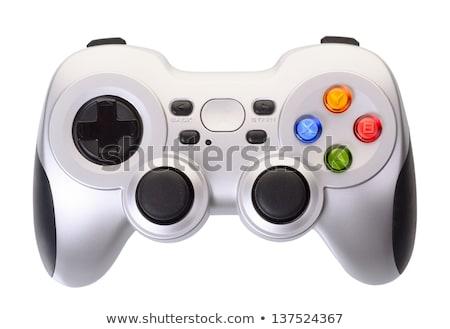 Biały gra wideo odizolowany bezprzewodowej telewizji tle Zdjęcia stock © TeamC
