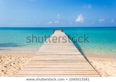ストックフォト: 木製 · 桟橋 · 海 · 水 · 風景 · 橋