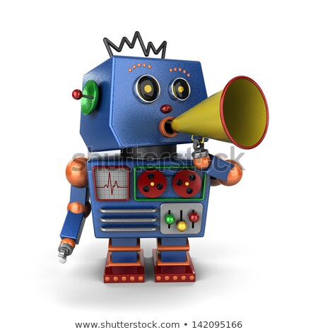 Toy robot with bullhorn Stock photo © creisinger