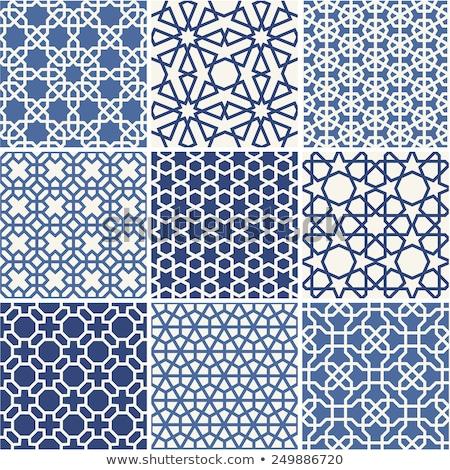 vecteur · bleu · vague · japonais · modèle - photo stock © cienpies