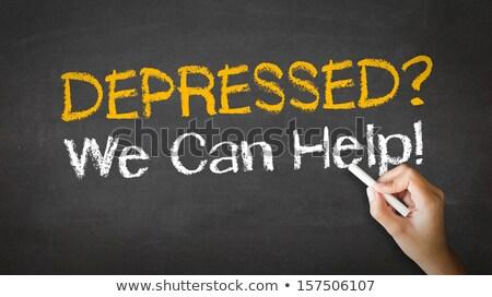 anxiety we can help chalk illustration stock photo © kbuntu