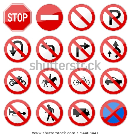 bike route traffic sign stock photo © hd_premium_shots
