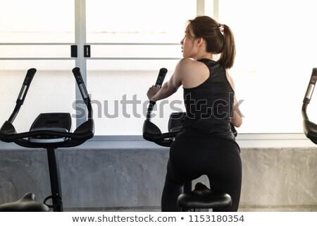fietsen · jogging · fitness · gelukkig · ouderen - stockfoto © jasminko
