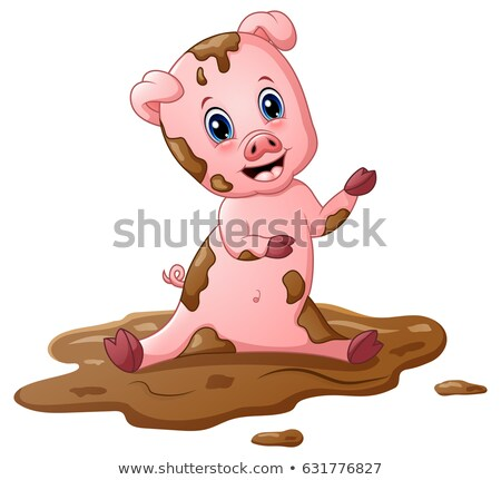 dirty little pig in a mud stock photo © goce