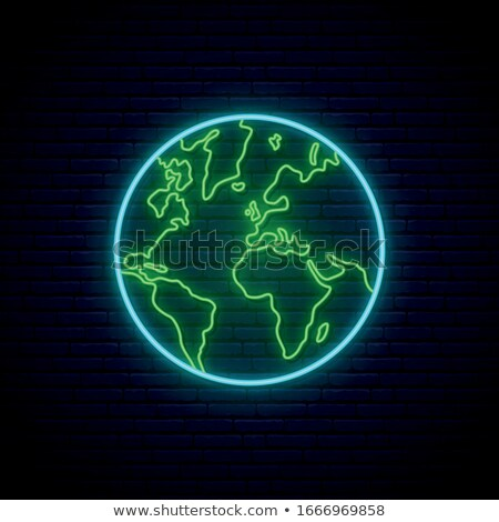 earth with neon glow Stock photo © taden