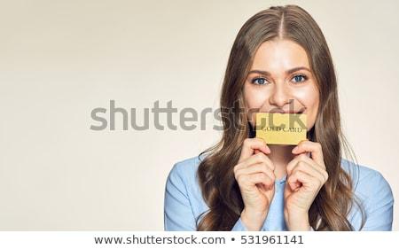vrouw · betalen · creditcard · winkel · vrouwen - stockfoto © dolgachov