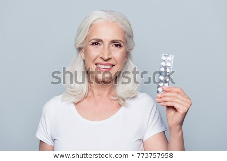 casual woman shows her tablet Stock photo © feedough