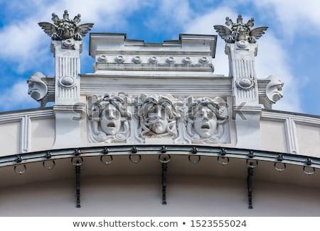 gebouw · art · nouveau · stijl · Riga · fragment - stockfoto © d13