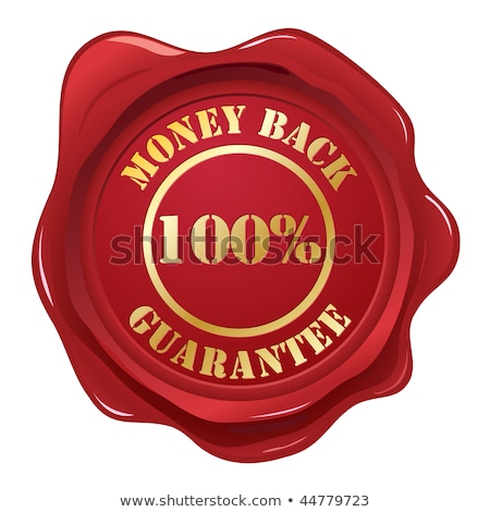 money back   stamp on red wax seal stock photo © tashatuvango