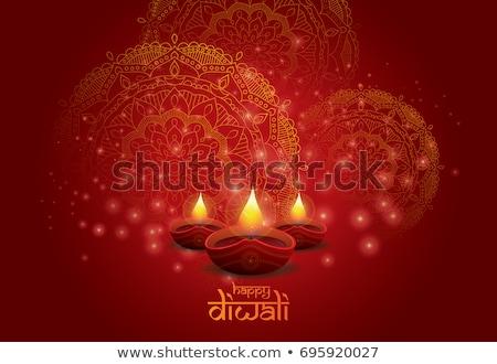 diwali · lamp · mooie · kunst · kleurrijk · patroon - stockfoto © bharat