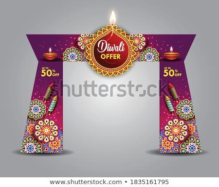 Beautiful celebration colorful diwali crackers festival backgrou Stock photo © bharat
