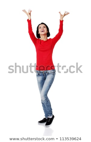 woman holding arms over her head Stock photo © Rob_Stark
