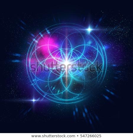 Kozmik uyum vektör altıgen model mor Stok fotoğraf © HypnoCreative