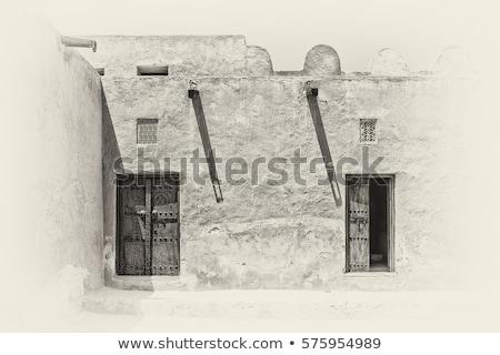 Vecchio finestra legno mattone costruzione legno Foto d'archivio © ondrej83