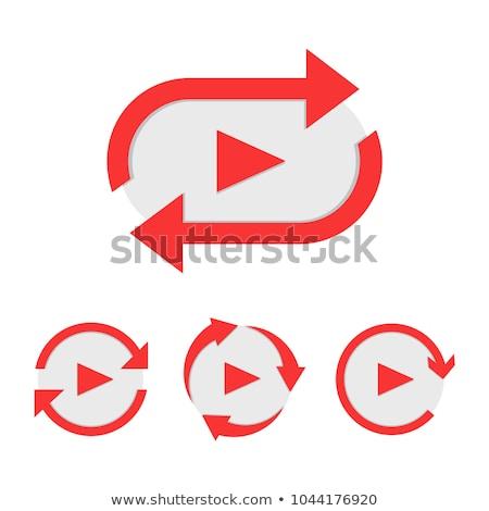фильма · икона · красный · видео · кино · белый - Сток-фото © tashatuvango
