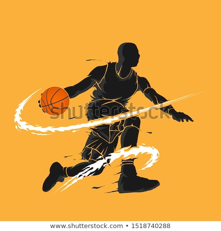 flaming basketball  Illustration Stock photo © Krisdog