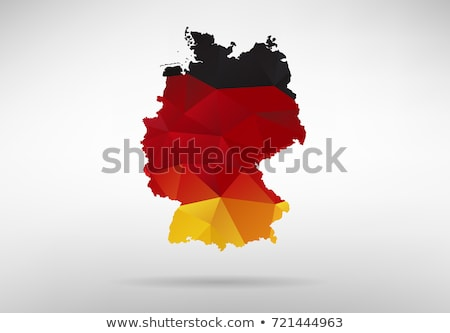 germany map black red and yellow stock photo © ustofre9