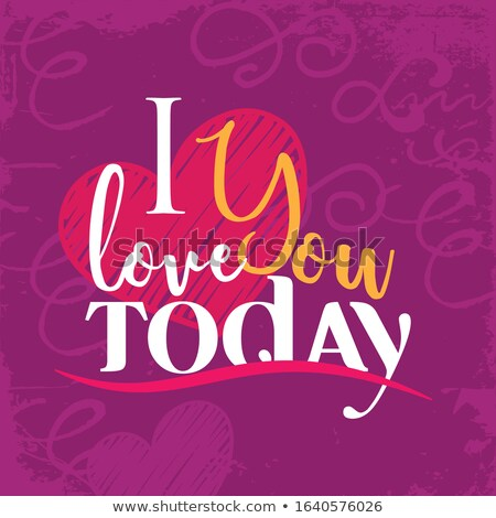 beautiful love forever stylish text colorful vector stock photo © bharat