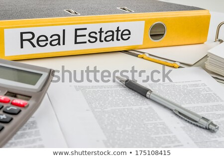 Folders with the label Real Estate and Mortgage stock photo © Zerbor