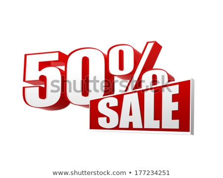 50 percentages sale in 3d letters and block Stock photo © marinini