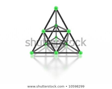 Manyetik piramit yüksek karar 3D görüntü Stok fotoğraf © silense