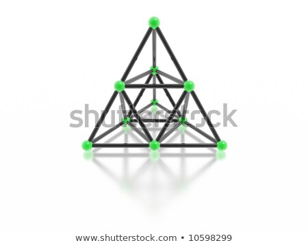 Magnético pirâmide alto 3D imagem Foto stock © silense