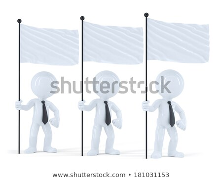 Group of businesspeople with flags. Isolated. Contains clipping path Stock photo © Kirill_M
