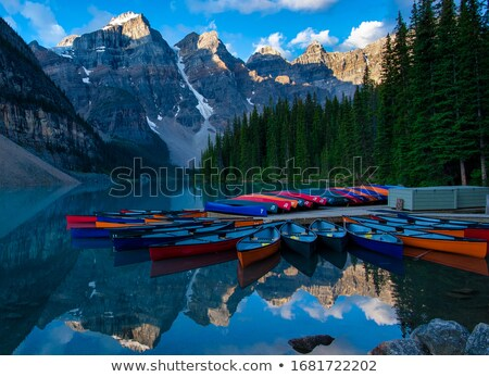 Canoes on Moraine Lake Stock photo © songbird