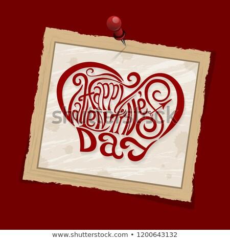 Polaroid with hearts Stock photo © shawlinmohd