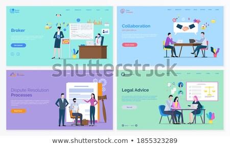 Photo stock: Juridiques · conseil · bleu · design · longtemps · ombres