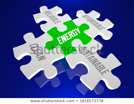 ígéret szó zöld puzzle fehér Stock fotó © tashatuvango