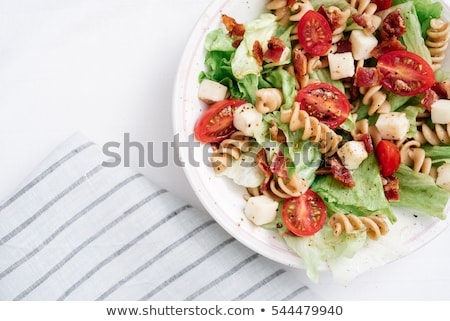 pasta salad close up stock photo © vanessavr