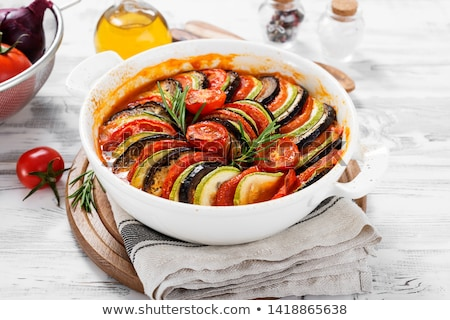 lezzetli · taze · pişmiş · gıda · akşam · yemeği · domates - stok fotoğraf © m-studio