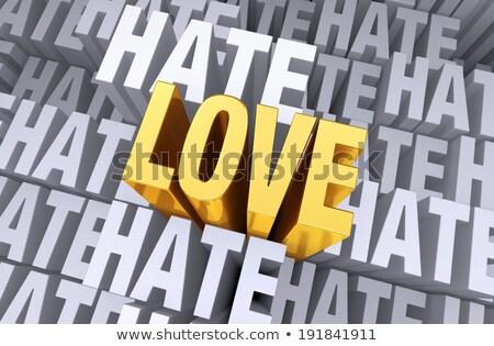 szeretet · gyűlölet · piros · zöld · utca · feliratok - stock fotó © 3mc