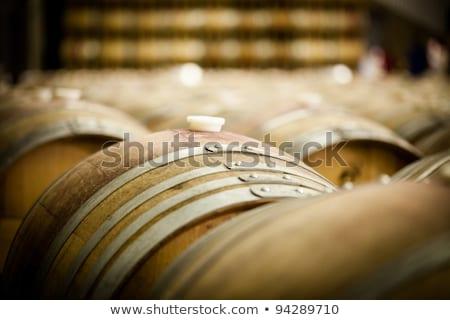 французский дуб вино баррель древесины пить Сток-фото © silkenphotography