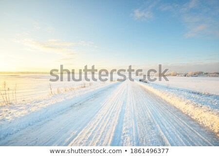 Winter scene on the road Stock photo © remik44992