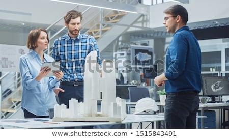 3D bâtiment modèle ville étage architecture Photo stock © designers