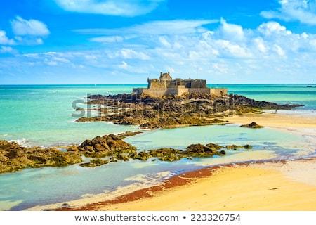Saint Malo, Fort National and beach Stock photo © tilo