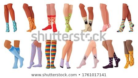 красивая женщина ног хлопка чулки женщину девушки Сток-фото © amok