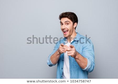 knap · vent · wijzend · camera · hartvorm - stockfoto © stockyimages