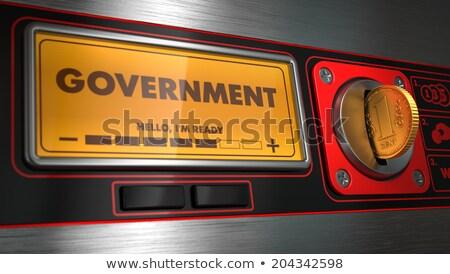 政府 表示 自動販売機 碑文 政治的 戦争 ストックフォト © tashatuvango