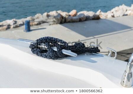 Touw oude hout zee schip vuile Stockfoto © trexec