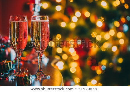 Champagne glasses ready to bring in the New Year Stock photo © Sandralise