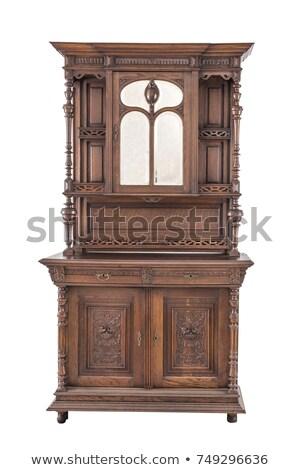 Used oak antique dresser isolated on white  Stock photo © tab62