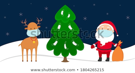 Santa Claus near Christmas tree Stock photo © HASLOO