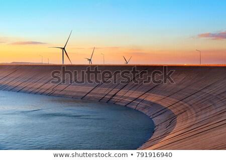 воды водохранилище Чешская республика облака город пейзаж Сток-фото © jarin13