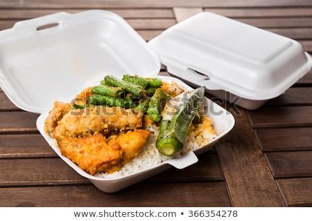 китайский · жареный · риса · куриные · продовольствие · окна - Сток-фото © dezign56