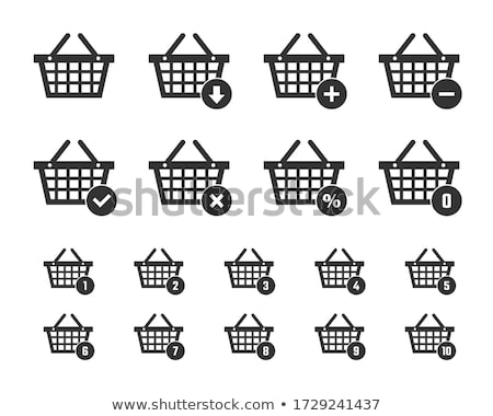Stock photo: Shopping items – shopping cart, shopping bag and shopping basket - vector illustration
